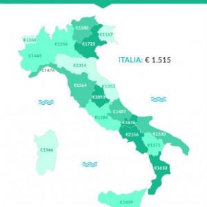 grafica 3 spese fisse per lauto la mappa delle regioni sostariffe