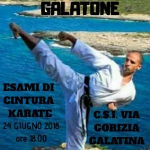 esami karate 24 giugno 2018