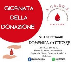 giornata della donazione a.ga.do.s. 10 10 21