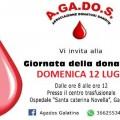 giornata della donazione agados 12 luglio