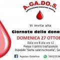 giornata della donazione agados 27 ottobre