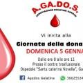 giornata della donazione agados 5 gennaio